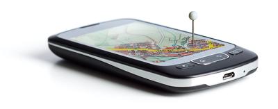 Smartphone mit GPS-Ortung