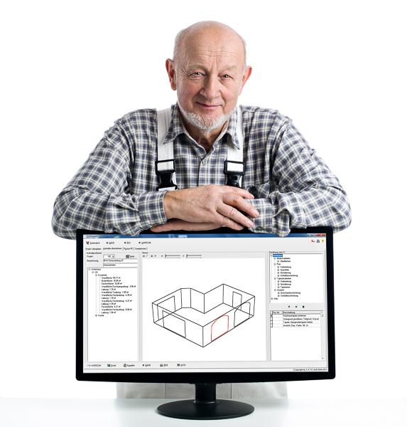 Malermeister mit 3D-Raumplan