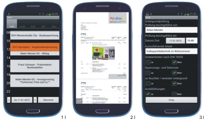 Über das Smartphone Zugriff auf die betriebswirtschaftliche Maler-Software C.A.T.S.-WARICUM