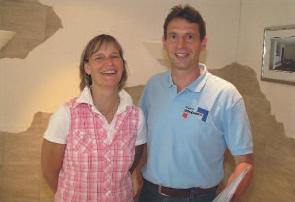 Sabine und Wolfgang Oeschger setzen auf die betriebswirtschaftliche Maler-Software und die digitale Zeiterfassung von C.A.T.S.-Soft