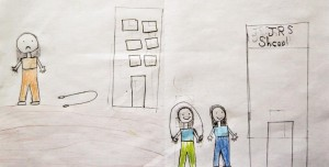 Kinderzeichnung, Libanon Foto: JRS